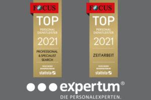 expertum | Focus Top Personaldienstleister 2021