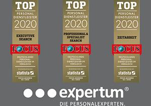 expertum | Focus Top Personaldienstleister 2020