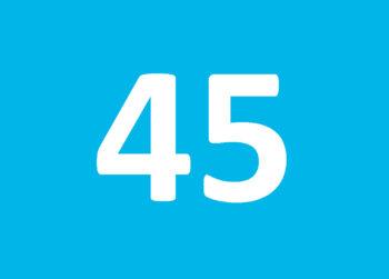 Zahl des Monats 45