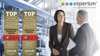expertum ist Top Personaldienstleister 2019