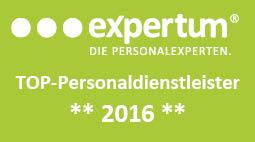 expertum Top Personaldienstleister 2016